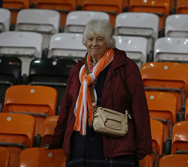 A Blackpool fan shows her disappointment at the result<br /> <br /> Photographer Stephen White/CameraSport<br /> <br /> Emirates FA Cup Third Round - Blackpool v Arsenal - Saturday 5th January 2019 - Bloomfield Road - Blackpool<br />  <br /> World Copyright &copy; 2019 CameraSport. All rights reserved. 43 Linden Ave. Countesthorpe. Leicester. England. LE8 5PG - Tel: +44 (0) 116 277 4147 - admin@camerasport.com - www.camerasport.com