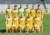 Belgium U19 - Ukraine U19 : <br /> <br /> Team Ukraine U 19 : Albina Fomchenko (1) - Veronika Andrukhiv (5) - Viktoriia Boiko (6) - Yana Malakhova (7) - Valeriia Olkovska (9) - Kateryna Korsun (10) - Tetyana Kozyrenka (11) - Natalia Radziievska (13) - Viktoriia Demaniuk (18) - Iryna Podolska (19) - Iryna Kolomiiets (20)<br /> <br /> foto Dirk Vuylsteke / Nikonpro.be