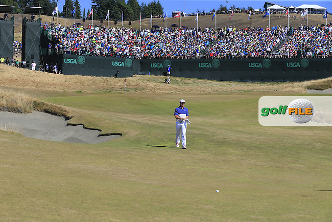 Rory MCILROY (NIR) on the 18th green during Sunday's Final Round of the 2015 U.S. Open 115th National Championship held at Chambers Bay, Seattle, Washington, USA. 6/21/2015.<br /> Picture: Golffile | Eoin Clarke<br /> <br /> <br /> <br /> <br /> All photo usage must carry mandatory copyright credit (&copy; Golffile | Eoin Clarke)