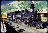 D&amp;RGW #478 K-28 in Durango with excursion train.<br /> D&amp;RGW  Durango, CO