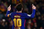 League Santander 2017/2018. Game: 25.<br /> FC Barcelona vs Girona FC: 6-1.<br /> Lionel Messi.