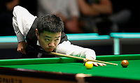 27th November 2019; York, England;  Ding Junhui of China competes during the first round match against Duane Jones of Wales at the UK Snooker Championship 2019 in York on Nov. 27, 2019.