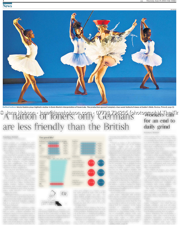 Dada Masilo's Swan Lake, Sadler's Wells, The Times - 19 Jun 2014 - Page #4