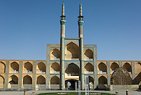 This gorgeous three storey takieh (a building used during the rituals to commemorate the death of Imam Hossein), which forms part of the Amir Chakhmaq Complex in Yazd, Iran, is one of the largest Hossienehs in the country.