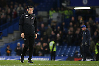 Derby County Manager, Frank Lampard, walks across the pitch towards the dressing room at the end of the game after waving and applauding both sets of fans during Chelsea vs Derby County, Caraboa Cup Football at Stamford Bridge on 31st October 2018