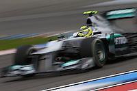 HOCKENHEIM, ALEMANHA, 20 JULHO 2012 - FORMULA 1 - GP DA ALEMANHA -   O piloto alemao Nico Rosberg durante o primeiro dia de treinos livres no circuito de Hockenheim nesta sexta-feira, 20. Domingo acontece a 10 etapa da F1 no GP da Alemanha. (FOTO: PIXATHLON / BRAZIL PHOTO PRESS).