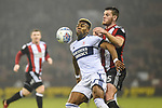 Adama Traore of Middlesbrough holds off Jack O'Connell of Sheffield Utd during the championship match at the Bramall Lane Stadium, Sheffield. Picture date 10th April 2018. Picture credit should read: Harry Marshall/Sportimage