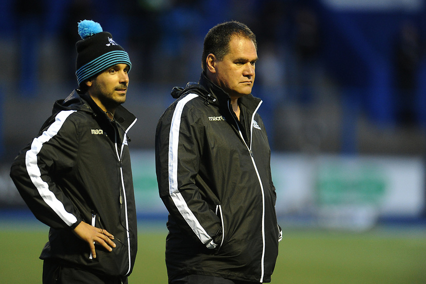 Glasgow Warriors' Head Coach Dave Rennie<br /> <br /> Photographer Ashley Crowden/CameraSport<br /> <br /> Guinness Pro14 Round 3 - Cardiff Blues v Glasgow Warriors - Saturday 16th September 2017 - Cardiff Arms Park - Cardiff<br /> <br /> World Copyright &copy; 2017 CameraSport. All rights reserved. 43 Linden Ave. Countesthorpe. Leicester. England. LE8 5PG - Tel: +44 (0) 116 277 4147 - admin@camerasport.com - www.camerasport.com