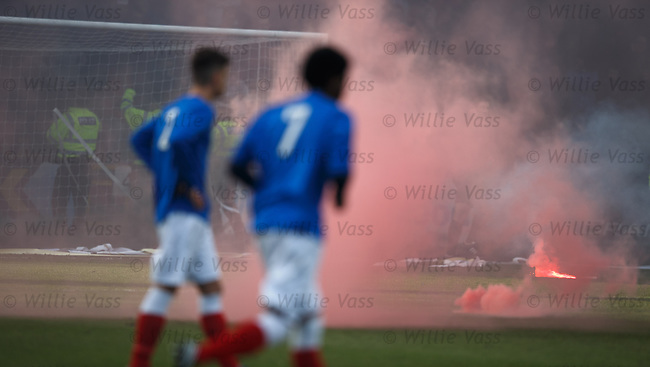 Pyro from the Rangers fans