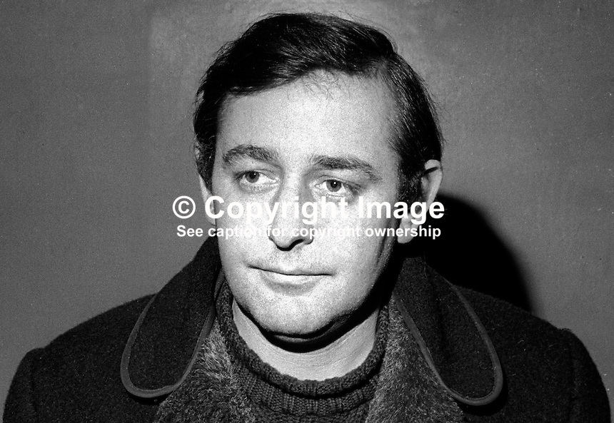 Malachy McGurran, member, executive, Northern Ireland Civil Rights Association, NICRA, 197002000078<br /> <br /> Copyright Image from Victor Patterson, 54 Dorchester Park, <br /> Belfast, UK, BT9 6RJ<br /> <br /> t1: +44 28 9066 1296 (from Rep of Ireland 048 9066 1296)<br /> t2: +44 28 9002 2446 (from Rep of Ireland 048 9002 2446)<br /> m: +44 7802 353836<br /> <br /> e1: victorpatterson@me.com<br /> e2: victorpatterson@gmail.com<br /> www.victorpatterson.com<br /> <br /> Please see my Terms and Conditions of Use at www.victorpatterson.com. It is IMPORTANT that you familiarise yourself with them.<br /> <br /> Images used on the Internet must be visibly watermarked i.e. &copy; Victor Patterson<br /> within the body of the image and copyright metadata must not be deleted. Images <br /> used on the Internet have a size restriction of 4kbs and will be chargeable at current<br />  NUJ rates unless agreed otherwise.<br /> <br /> This image is only available for the use of the download recipient i.e. television station, newspaper, magazine, book publisher, etc, and must not be passed on to any third <br /> party. It is also downloaded on condition that each and every usage is notified within 7 days to victorpatterson@me.com<br /> <br /> The right of Victor Patterson to be identified as the author is asserted in accordance with The Copyright Designs And Patents Act (1988). All moral rights are asserted.
