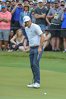 Alex Noren (SWE) watches his putt on 18 during day 5 of the World Golf Championships, Dell Match Play, Austin Country Club, Austin, Texas. 3/25/2018.<br /> Picture: Golffile | Ken Murray<br /> <br /> <br /> All photo usage must carry mandatory copyright credit (© Golffile | Ken Murray)