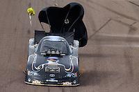 Feb 23, 2014; Chandler, AZ, USA; NHRA funny car driver Alexis DeJoria during the Carquest Auto Parts Nationals at Wild Horse Motorsports Park. Mandatory Credit: Mark J. Rebilas-USA TODAY Sports