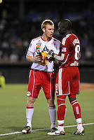 Tim Ream, Bouno Coundoul...Kansas City Wizards were defeated 3-0 by New York Red Bulls at Community America Ballpark, Kansas City, Kansas.