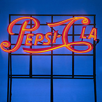 Pepsi Cola sign, Long Island City, New York, 1966. Photo by John G. Zimmerman.
