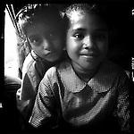 Ruksana (front) in India.