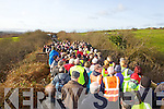 Pictured on the Limerick/Kerry border where a standoff between walkers on the Great Southern Trail (GST) and Kerry landowners who's claim is the trail that crosses from Co Limerick into Co Kerry the land then becomes private property, a claim the walkers dispute who say Irish Rail own it. The last train to run the train line was 50 years to the day last Saturday.