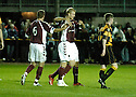 20/09/2006        Copyright Pic: James Stewart.File Name : sct_jspa05_alloa_v_hearts.juho makela celebrates after he scores hearts first......Payments to :.James Stewart Photo Agency 19 Carronlea Drive, Falkirk. FK2 8DN      Vat Reg No. 607 6932 25.Office     : +44 (0)1324 570906     .Mobile   : +44 (0)7721 416997.Fax         : +44 (0)1324 570906.E-mail  :  jim@jspa.co.uk.If you require further information then contact Jim Stewart on any of the numbers above.........