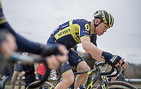very solid ride by Chris Juul Jensen (DEN/Orica-Scott) today (eventually finishing 7th)<br /> <br /> 11th Strade Bianche 2017