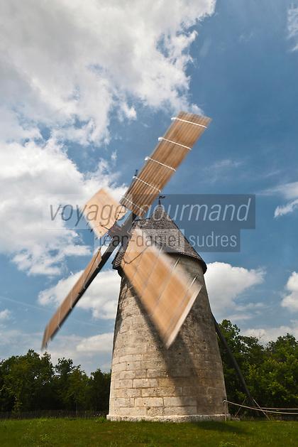Europe/France/Aquitaine/24/Dordogne/Cercles: Moulin des Terres blanches , moulin à vent