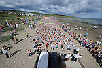 The 1413 people who took part in the 'Rock the Boat' world record attempt at the Clogherhead Prawn Festival. Photo: www.colinbellphotos.com