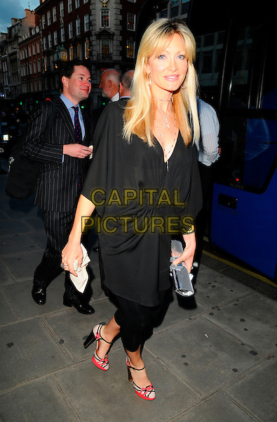 CAPRICE BOURRET.The Royal Academy of Arts Summer Exhibition 2008 VIP preview party Burlington Gardens, London, England. .June 4th, 2008.full length black leggings top dress silver clutch bag pink cream shoes .CAP/CAN.©Can Nguyen/Capital Pictures.
