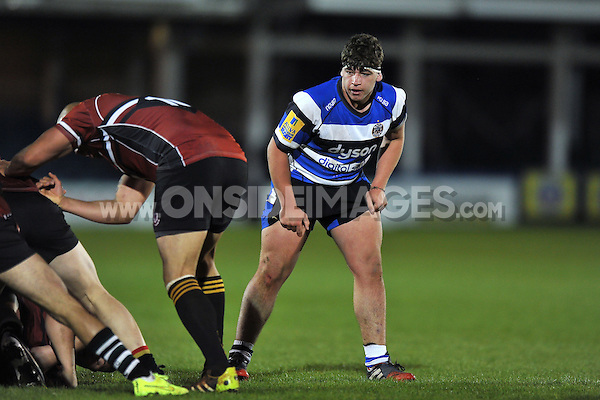 Dan Frost of Bath United looks on. End-of-season friendly match, between Bath United and Somerset County Senior XV on April 20, 2015 at the Recreation Ground in Bath, England. Photo by: Patrick Khachfe / Onside Images