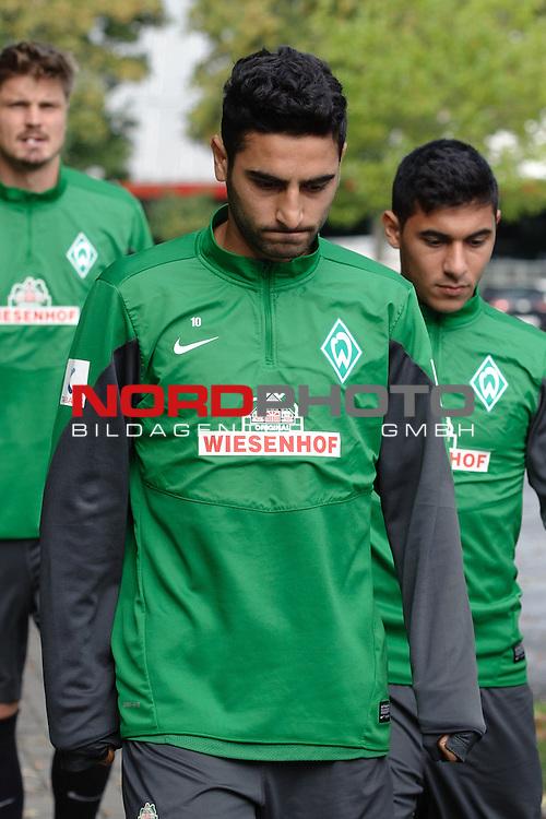 15.09.2013, Trainingsgelaende, Bremen, GER, 1.FBL, Training Werder Bremen, im Bild Mehmet Ekici (Bremen #10)<br /> <br /> Foto &not;&copy; nph / Frisch