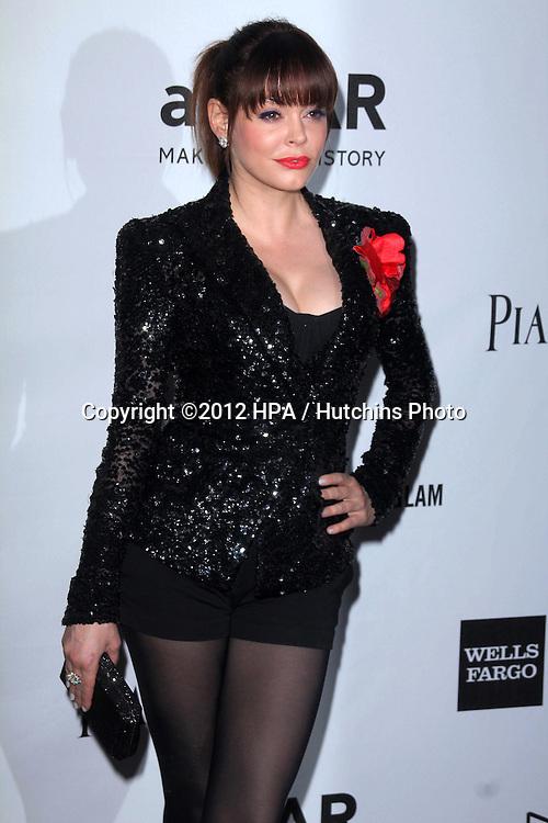 LOS ANGELES - OCT 11:  Rose McGowan arrives at the amfAR Inspiration Gala Los Angeles at Milk Studios on October 11, 2012 in Los Angeles, CA