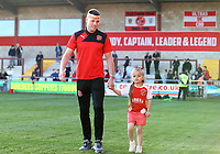 Fleetwood Town&rsquo;s  Bobby Grant with daughter after the match<br /> <br /> Photographer Leila Coker/CameraSport<br /> <br /> The EFL Sky Bet League One - Fleetwood Town v Walsall - Saturday 5th May 2018 - Highbury Stadium - Fleetwood<br /> <br /> World Copyright &copy; 2018 CameraSport. All rights reserved. 43 Linden Ave. Countesthorpe. Leicester. England. LE8 5PG - Tel: +44 (0) 116 277 4147 - admin@camerasport.com - www.camerasport.com