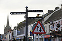 SPECIAL BREXIT FEA ON ANTRIM AND SDC TRAILERS FOR Arthur Beesley  - 9/1/2019 : Street signs in Antrim town centre, County Antrim, Northern Ireland.-  Photo/Paul McErlane