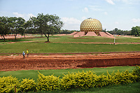 Meditation centre (golden round shaped) at Aurivil in Pondicherry.Arindam Mukherjee