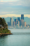 Seattle, skyline, Puget Sound, Elliott Bay, Seattle, Washington State, Pacific Northwest, United States,