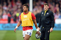 Anthony Watson of Bath Rugby looks on during the pre-match warm-up. Gallagher Premiership match, between Gloucester Rugby and Bath Rugby on April 13, 2019 at Kingsholm Stadium in Gloucester, England. Photo by: Patrick Khachfe / Onside Images
