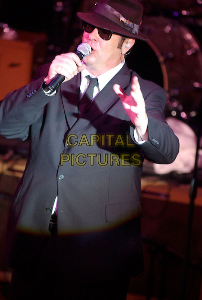 DAN AYKROYD.features in The Blues Brothers Revue during the grand opening celebration at the Cleveland House of Blues Club, Cleveland, Ohio, USA, .28th November 2004  .half length show stage concert costume.Ref: ADM.www.capitalpictures.com.sales@capitalpictures.com.©Laura Farr/AdMedia/Capital Pictures .