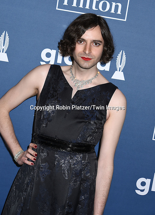 Jacob Tobia attends the 27th Annual GLAAD Media Awards on May 14, 2016 at the Waldorf Astoria Hotel in New York City, New York, USA.<br /> <br /> photo by Robin Platzer/Twin Images<br />  <br /> phone number 212-935-0770