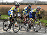 Drogheda Wheelers riders Ben McCourt Lenehan and Richie Beckton riding in the Coombes Connor Memorial race. Photo:Colin Bell/pressphotos.ie