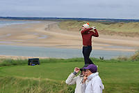 Ronan Cross (Ballybunion) on the 16th tee during the Munster Final of the AIG Junior Cup at Tralee Golf Club, Tralee, Co Kerry. 13/08/2017<br /> Picture: Golffile | Thos Caffrey<br /> <br /> <br /> All photo usage must carry mandatory copyright credit     (&copy; Golffile | Thos Caffrey)