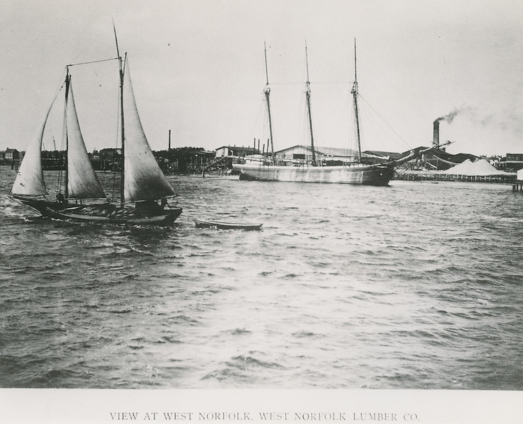 UNDATED..Historical..View at West Norfolk, West Norfolk Lumber Co...PHOTO CRAFTSMEN INC..NEG# 18-989.NRHA# 762-D..