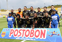 BOGOTA -COLOMBIA. 1-03-2014.  Equipo de Fortaleza F.C. contra La Equidad partido por la novena   fecha de La liga Postobon 1 disputado en el estadio Metropolitano de Techo . /   Team of Fortaleza F.C.  against La Equidad of  nine round during the match  of The Postobon one league  at the Metropolitano of Techo Stadium . Photo: VizzorImage/ Felipe Caicedo / Staff