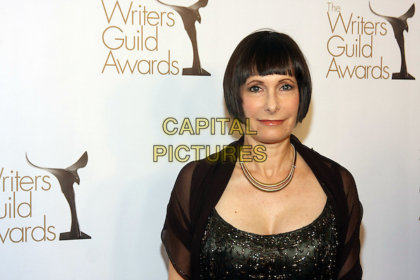 GALE ANN HURD .The 2011 Writers Guild Awards held at Renaissance Hollywood Hotel,  Los Angeles, California, USA,.5th February 2011..WGA WGAs arrivals portrait headshot black beaded gold necklace .CAP/ADM/TB.©Tommaso Boddi/AdMedia/Capital Pictures.