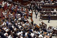 Roma, 9 Luglio 2015<br /> Voto finale per la riforma della scuola.<br /> I Deputati del Movimento 5 Stelle leggono insieme e in piedi gli articoli 3 e 33 della Costituzione<br /> La legge passa tra le proteste dentro e fuori l'Aula della Camera dei Deputati.