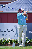 William McGirt (USA) watches his tee shot on 1 during the round 1 of the Dean &amp; Deluca Invitational, at The Colonial, Ft. Worth, Texas, USA. 5/25/2017.<br /> Picture: Golffile | Ken Murray<br /> <br /> <br /> All photo usage must carry mandatory copyright credit (&copy; Golffile | Ken Murray)