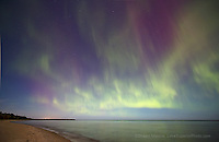 aurora borealis northern lights in the upper peninsula of michigan