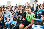Rigoberto Uran (COL) Cannondale Drapac introduced to the crowd before the Tour de France Saitama Critérium 2017 held around the streets os Saitama, Japan. 3rd November 2017.<br /> Picture: ASO/Pauline Ballet | Cyclefile<br /> <br /> <br /> All photos usage must carry mandatory copyright credit (© Cyclefile | ASO/Pauline Ballet)