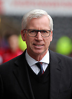 Crystal Palace manager Alan Pardew arrives before the Barclays Premier League match between Swansea City and Crystal Palace at the Liberty Stadium, Swansea on February 06 2016