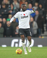 Derby County's Fikayo Tomori<br /> <br /> Photographer Mick Walker/CameraSport<br /> <br /> The EFL Sky Bet Championship - Derby County v Aston Villa - Saturday 10th November 2018 - Pride Park - Derby<br /> <br /> World Copyright &copy; 2018 CameraSport. All rights reserved. 43 Linden Ave. Countesthorpe. Leicester. England. LE8 5PG - Tel: +44 (0) 116 277 4147 - admin@camerasport.com - www.camerasport.com