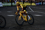 Yellow Jersey Egan Bernal (COL) Team Ineos enters Place de la Concorde during Stage 21 of the 2019 Tour de France running 128km from Rambouillet to Paris Champs-Elysees, France. 28th July 2019.<br /> Picture: ASO/Pauline Ballet | Cyclefile<br /> All photos usage must carry mandatory copyright credit (© Cyclefile | ASO/Pauline Ballet)