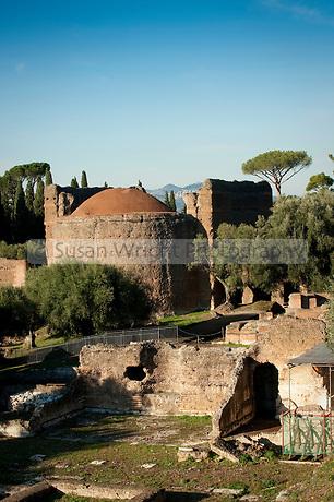 World Heritage listed Villa Adriana, Tivoli, Italy