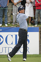 Peter Lawrie tees off on the par 3 2nd hole during the 3rd round of the 2008 Open de France Alstom at Golf National, Paris, France June 28th 2008 (Photo by Eoin Clarke/GOLFFILE)