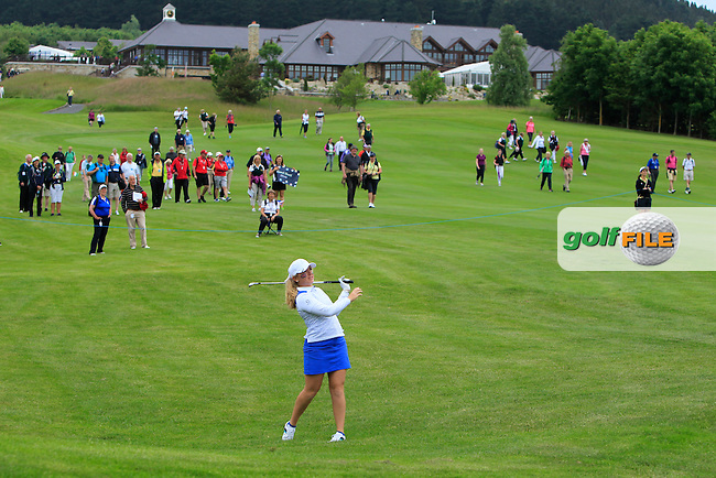 Bronte Law on the 13th during the Friday morning Foursomes of the 2016 Curtis Cup at Dun Laoghaire Golf Club on Friday 10th June 2016.<br /> Picture:  Golffile | Thos Caffrey